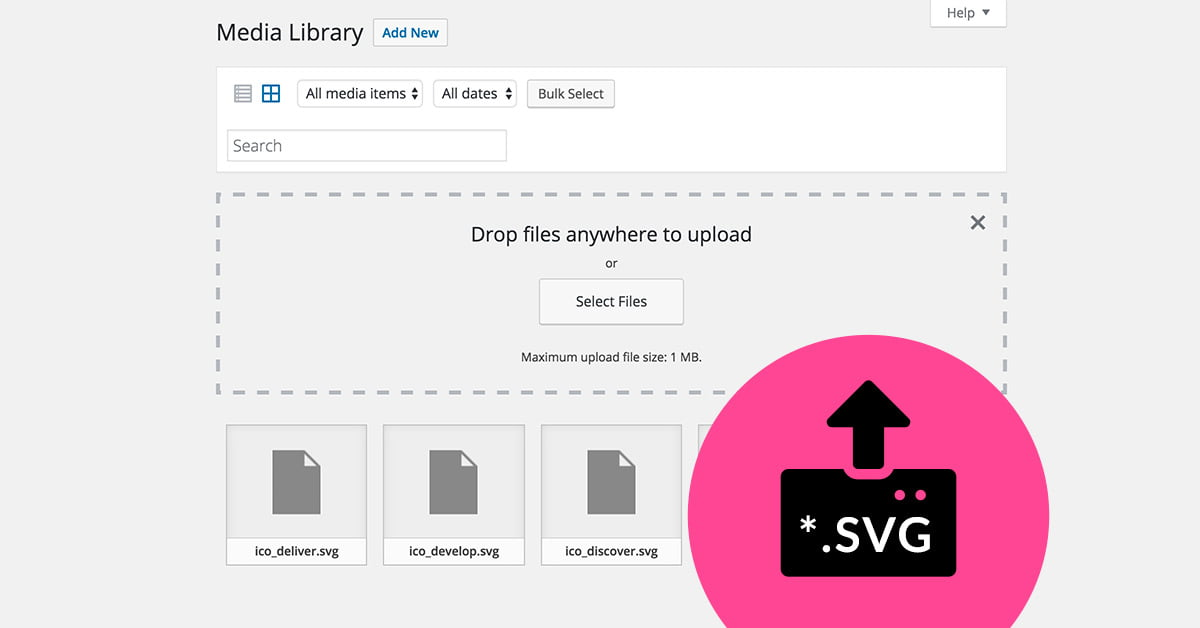 How to add SVG images to WordPress Library