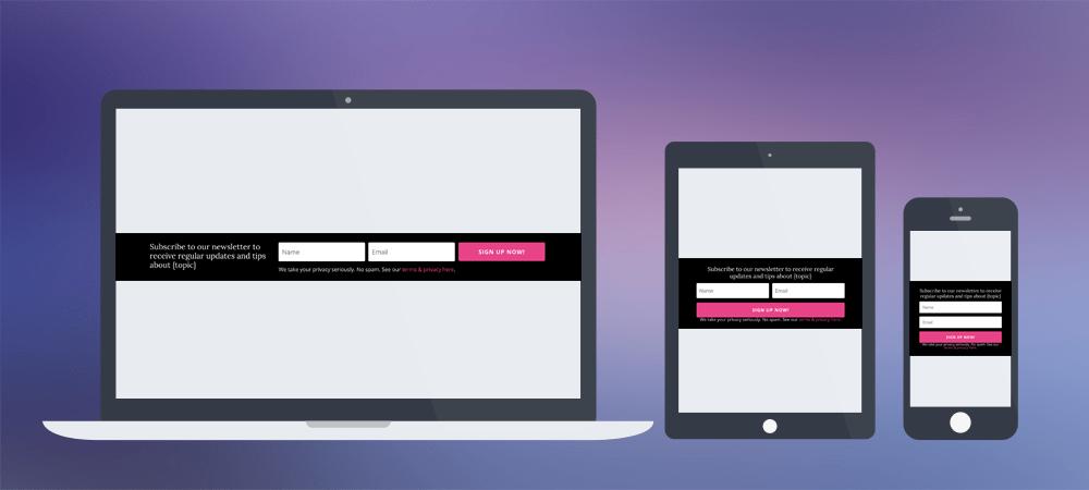 Slim Divi Email Optin Form Module Layout ~ Divi Lover